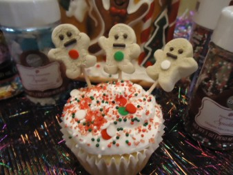 Gingerbread Cupcakes, Christmas Gingerbread Cupcakes, Christmas Cupcakes